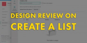 "Beitragsbild des Blogbeitrags Design Review: ""Create a list"" experience on SharePoint Online"