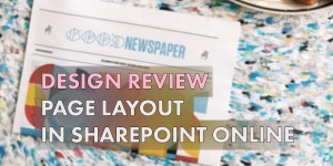 Beitragsbild des Blogbeitrags Design Review: Page layout and typography of communication sites