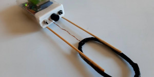 Beitragsbild des Blogbeitrags Minimal metal detector made with an Arduino and a coil of wire
