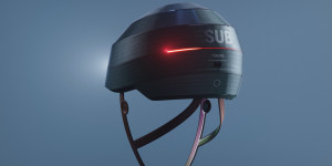 Beitragsbild des Blogbeitrags ESUB Tracks is a smart bicycle helmet with built-in electronics for enhanced safety