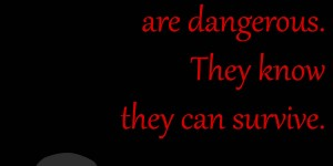 Beitragsbild des Blogbeitrags Damaged people are dangerous. They know they can survive.