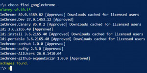 Beitragsbild des Blogbeitrags PowerShell: Install Software via Online Repository (Chocolatey)