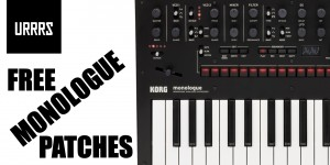 Beitragsbild des Blogbeitrags URRRS Is Giving Away 50 Bass Presets For The Korg Monologue