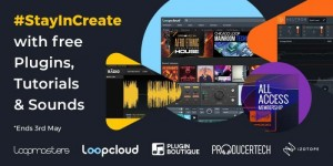Beitragsbild des Blogbeitrags Loopcloud StayInCreate Bundle Features Free Plugins (Neutron Elements…), Sounds & Tutorials
