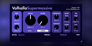 Beitragsbild des Blogbeitrags Valhalla DSP Supermassive, Free Plugin Packed With Super Lush Delays & Reverbs