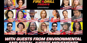 Beitragsbild des Blogbeitrags Fire Drill Freitags Virtual Sizzle Intro |  Greenpeace USA