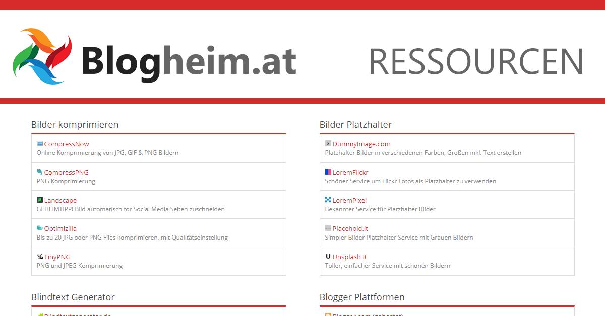 Blogheim at | HTML Symbole